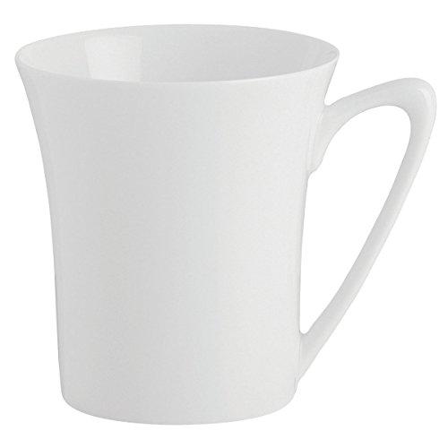 DEGRENNE - Boréal lot de 6 mugs, porcelaine - Blanc