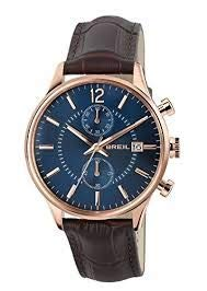 Breil orologio cronografo quarzo uomo con cinturino in pelle tw1570