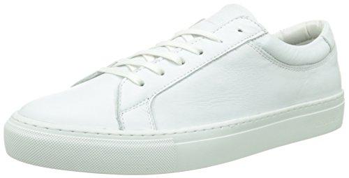 Jack & Jones Jjgalaxy Leather Sneaker Anthracite, Sneaker Basse Uomo Bianco (Bright White)