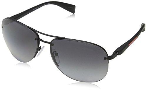 Prada Sport Herren 0PS56MS DG05W1 65 Sonnenbrille, Schwarz (Black Rubber/Polargrey)