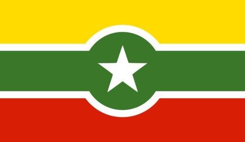 Alternate Myanmar Bandiera 20x30cm per Diplomat-Flags Bandiere per Auto