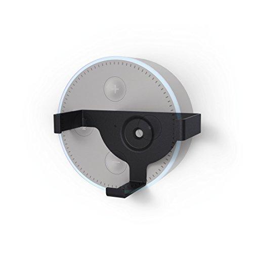 Hama Wandhalterung für Echo Dot, 2. Generation (platzsparende Echo Dot-Lautsprecher Halterung) Wand-Halter/-Befestigung schwarz (Halter 2)
