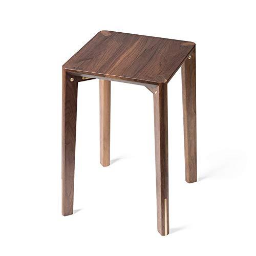 JJMUD Kupfer Holz Möbel American Black Walnut Messing Zero Formaldehyd Holzhocker -