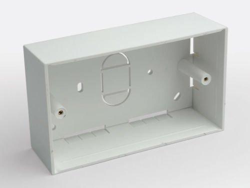 2x Back Box Double-Gang 45mm tief Oberfläche Halterung vergossen 146mm x 86mm -