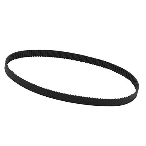 MagiDeal 2mm Zahnriemen Gummi Loop GT2 Riemen 3D Drucker Teile - Schwarz 6mm (Geschlossene Motor)