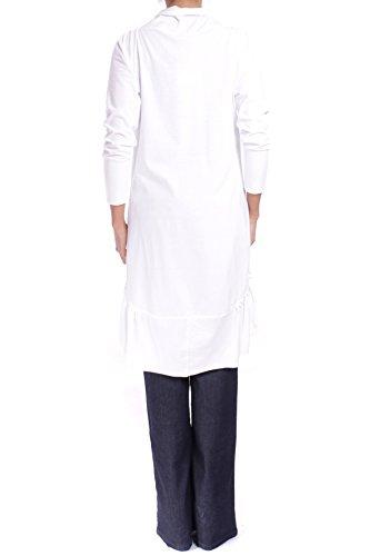 ANTA Q'ULQI - Long Cardigan Jersey en Coton Pima CATALINA Blanc
