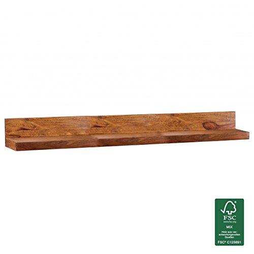 FineBuy Mensola in legno massello Sheesham mensola