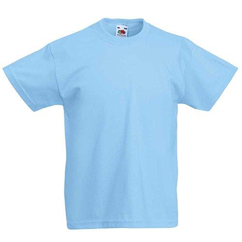 Fruit of the LoomMädchen T-Shirt Blau Himmelblau