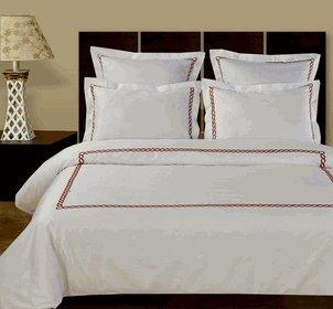 Royal Hotel 's 8pc california-king Größe bed-in-a-bag gestreift weiß 600-thread-count sibirischen Gänsedaunen Alternative Tröster 100Prozent Baumwolle–inkl. Blatt und Bettbezug Sets (Bettbezug King 600)