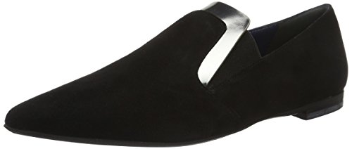 Pollini Shoes, Chaussures Bateau Femme Schwarz (Black 00A)