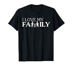 I Love My Family I Mama Papa Kind Familien Outfit Pyjama T-Shirt