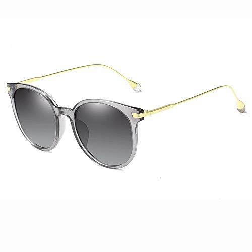 Easy Go Shopping Polarisierte Sonnenbrille für Männer Frauen Aviator Metallspiegel UV 400 Objektiv Mode (Farbe : Grau, Größe : Casual Size)