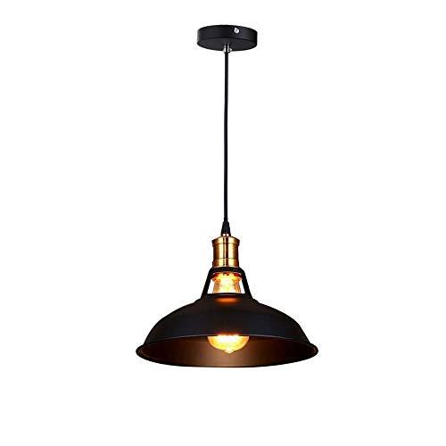 Schwarz Schneiden, Schüssel (Loft Retro Dome Eier schneiden Kronleuchter Einzelne Kopf Schwarz Schuppenlampen Schärpe Creative KronleuchterBlack)