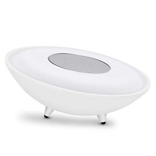 ZJHNZS Altoparlante Bluetooth Lampada da Comodino con sensore tattile Lampada da Comodino dierabile Lettore Musicale MP3 Radio FM Lampada LED con