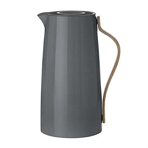 Stelton x-200-1 Emma Isolierkanne, Kaffee 1,2 L, Kunststoff, grau, 15.5 x 13 x 26 cm