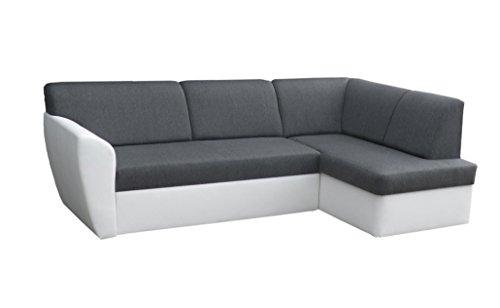 mb-moebel Ecksofa Sofa Eckcouch Couch mit Schlaffunktion und Bettkasten Ottomane L-Form Schlafsofa Polstergarnitur Margo