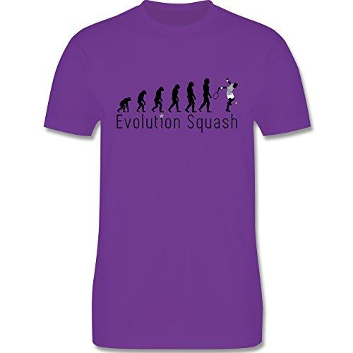Evolution - Squash Evolution - Herren Premium T-Shirt Lila