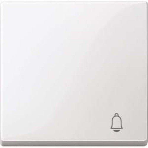 Merten MEG3305-0319 Wippe mit Kennzeichnung Klingel, polarweiß glänzend, System M -