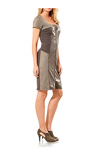 Heine - Robe - Opaque - Femme Multicolore Taupe Gris - Taupe