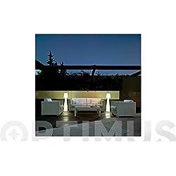 NEW Garden lumll110ofnw energis par Lampe, plastique, 15W, E27, Blanc, diamètre 25cm, hauteur 110cm