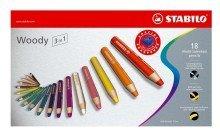 Preisvergleich Produktbild Stabilo© Multitalent-Stift woody 3 in 1, Kartonetui mit 18 Stiften und Spitzer