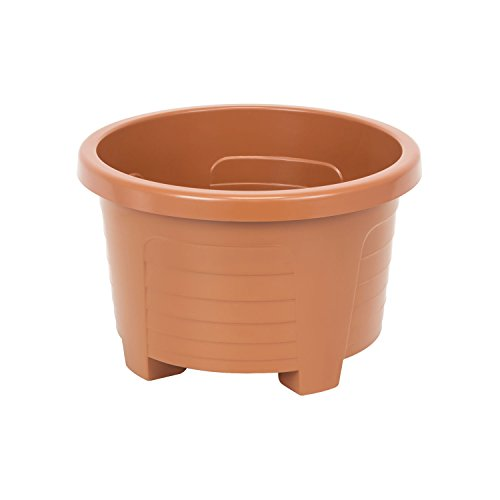 Muza rond cache pot en plastique, dametre: 23 cm, en blanc