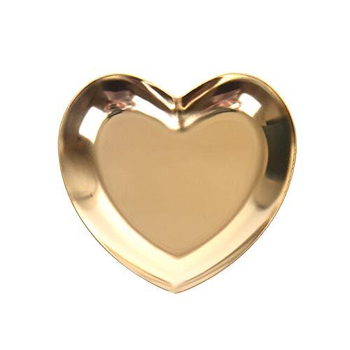 Sarplle Schmucktablett Herzform Tablett Schmuckablage 2 Stück Dekotablett Aufbewahrung für Schmuck, Schmuck, Dekorationen