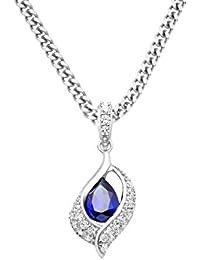 Miore - MSAE025N - Collier - Femme - Argent 925/1000 5.19 Gr - Saphir