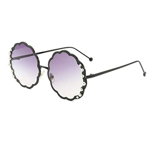 EYEphd Round Sungbrillen für die Damenmode-Designerin Pearl Frame & Circle Tinted Gradient Lens Glasses UV400,07