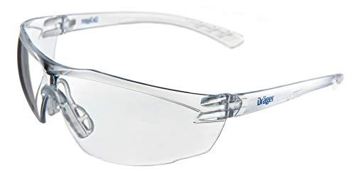 Dräger Schutzbrille X-pect 8320 | Leichte Sicherheitsbrille mit großem Sichtfeld | Für Baustelle, Werkstatt, Fahrrad-Fahren, Joggen | Klar, Kratzfest und beschlagfrei | 1 St.