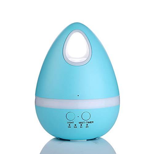 Mini Luftbefeuchter Eier Luftreiniger Schlafmittel Aromatherapie Maschine Anti-Dry Home @ Fan,Blue,125X168mm -