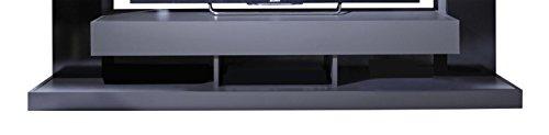 trendteam 1561-001-31 Mediawohnwand Schwarz Glanz, Korpus Grau, BxHxT 164x124x46 cm - 4