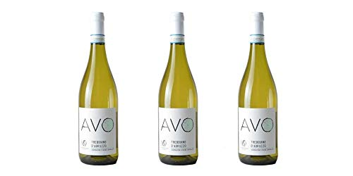 """3 Bottiglie di Trebbiano d'Abruzzo DOC""""AVO""""   Cantina Valle Martello   Annata 2018"""