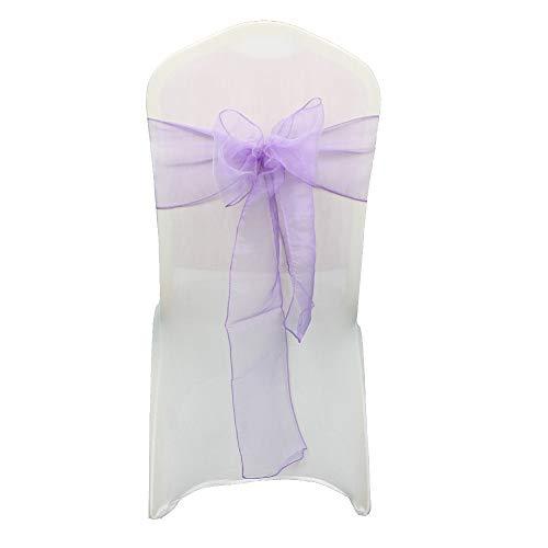 Wedding Décor 17cm breit 274cm lang - Organza Sashes Stuhlhussen, voller für Hochzeits-Geburtstags-Party-Events 34 Farben, 150 Stück (Deckt Hochzeit Stuhl)