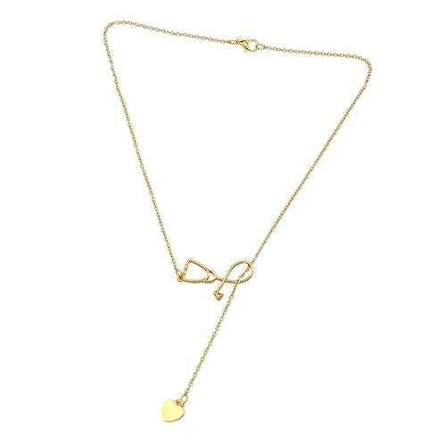 Merssavo Gold Arzt Krankenschwester Medizin Stethoskop Herz Liebe Anhänger Halskette Geschenk