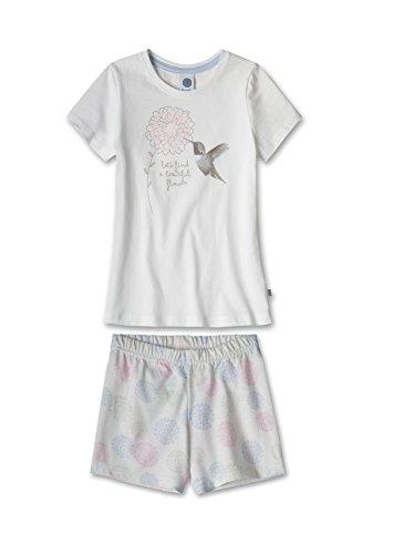 Sanetta Mädchen Zweiteiliger Schlafanzug 231612, Weiß (White 10), 104