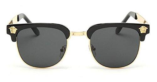 Retro Sunglasses Reflective Color Film Metal Half-frame Women's Sunglasses Male Glasses
