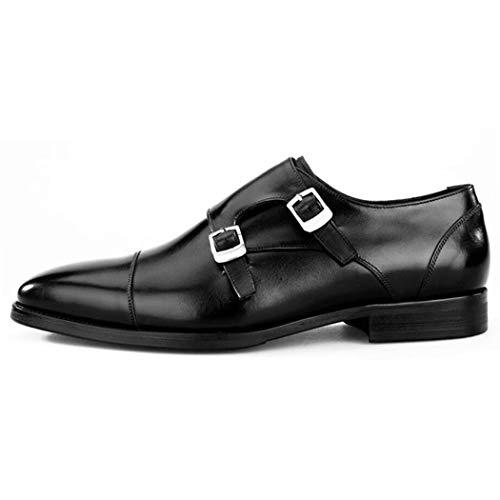 KTYXGKL Herren Gürtel Gürtelschnalle Schnalle Schuhe Flache Schuhe Oxford Tuch Moderne Offizielle Business Business Business Schuhe Herren Casual Komfort Kleid Schuhe Herren Lederstiefel - Detail Loafers