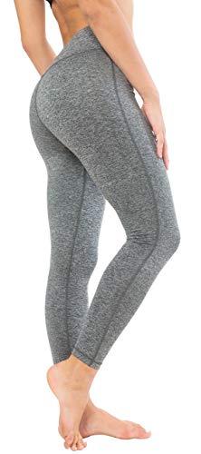 QUEENIEKE Damen Power Flex Yoga Hosen Training Laufende Leggings Farbe Graue Melange Größe L