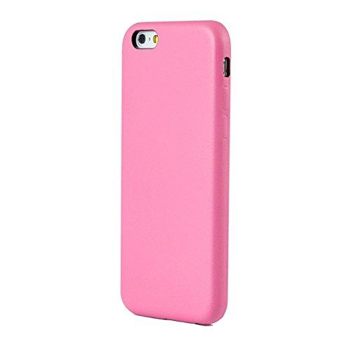 iProtect Kunstleder Schutzhülle Apple iPhone 6 Plus flexibles Case in Grau Leder Hard Case Pink.