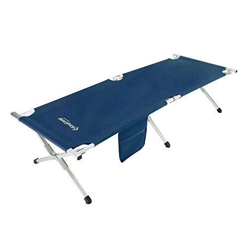 KingCamp Feldbett Aluminium Campingbett Campingliege mit Seitentasche bis 120 kg belastbar