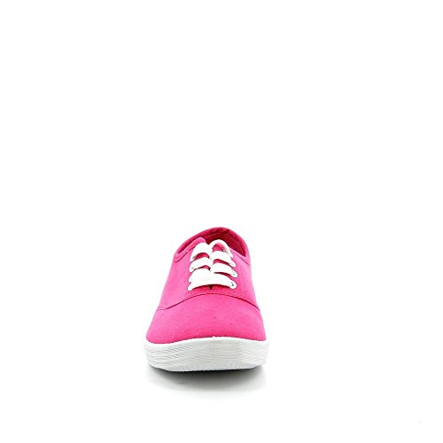 Ideal Shoes - Chaussure femme Basket VICKY Fuchsia