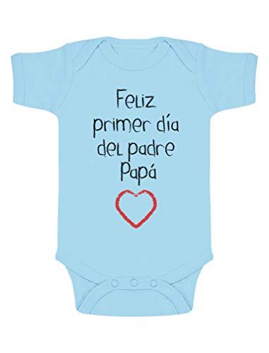 Body Manga Corta bebé - Feliz Primer Día Padre -
