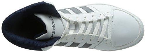 adidas NEOHoops VS Mid - Scarpe da Ginnastica Basse Uomo Blanc - Weiß (White/Grey/Black)