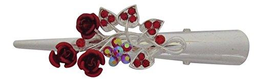 klein-smooth-silver-ton-mit-und-faux-perle-blume-flower-schnabel-clip-krokodil-clip