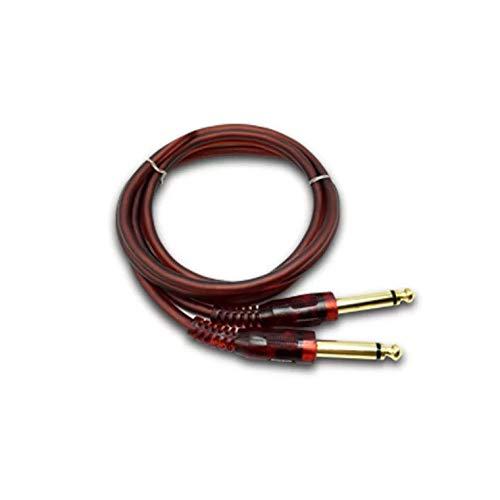 Carriea 1,5m Professionelles Instrumenten Kabel von Premium-Qualität für die E-Gitarre, Elektro-Akustikgitarre, Bassgitarre & Keyboard - 1/4 direkt Standard Buchse zu Buchse