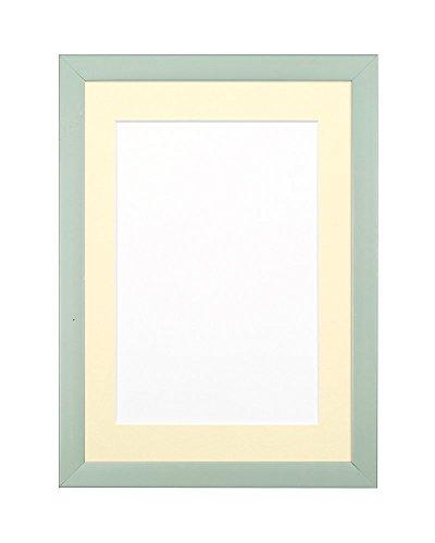 Cornice per foto e poster, con foglio in plexiglas infrangibile ad alta trasparenza, disponibile in 8 colori e varie misure, Polcore, Light Green with Ivory Mount, 7