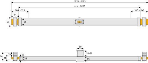 ABUS Panzerriegel PR2600 weiß, 51381 - 2