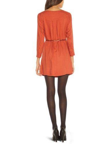 Vero Moda - Vestito, collo rotondo, manica lunga, donna Rosso (Rouille)