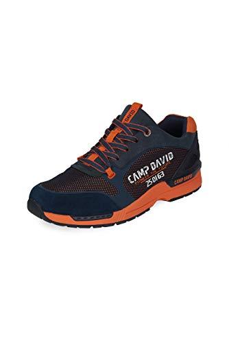 Camp David Herren Sneaker mit Metallic-Mesh